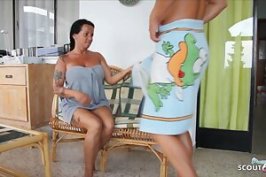 German StepMom Katie Seduce to Fuck on Holiday by StepSon