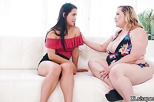 Lesbian MILF  Bunny De La Cruz finally meet her sons girlfriend Alina Lopez and gave her a lesbian sex that makes her happy until they shared orgasms.