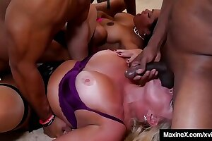 Milfs Maxine X & Alexis Golden Wrecked By 5 Big Black Cocks!