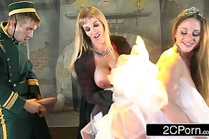 Failed Comedian Fucking 2 Busty Babes During Play - Cathy Heaven, Rebecca Moore