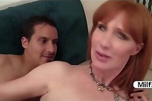 Older redhead doggystyle fucking pussy licking and blowjob
