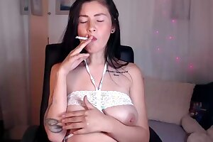 EXTREME FETISH! Smoking MILF with milk filled tits!