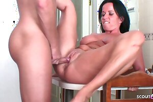 German MILF Cougar Seduces young Neighbour to Fuck on Holiday